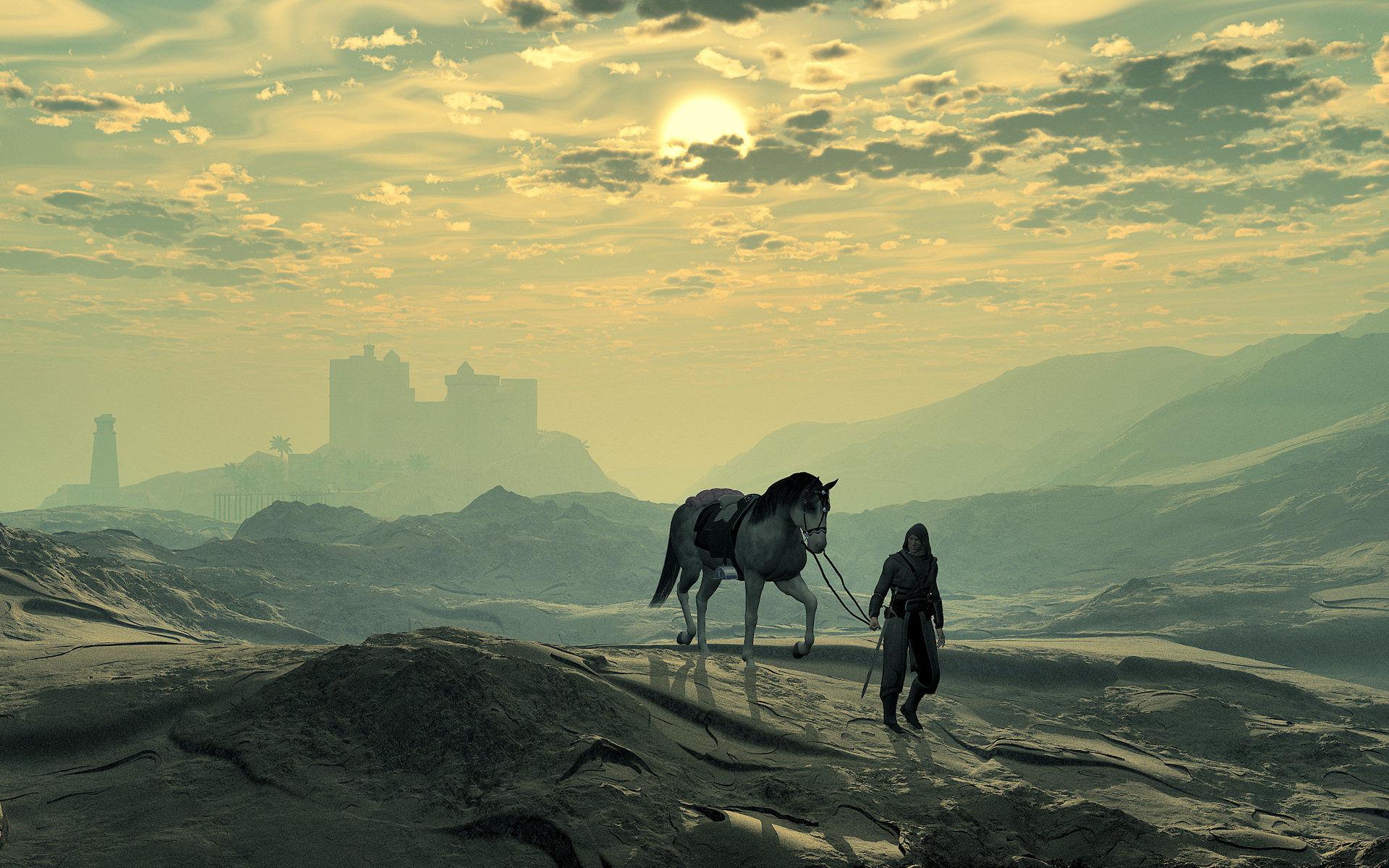 Simple Wallpaper Horse Angel - lone  Image_98135.jpg