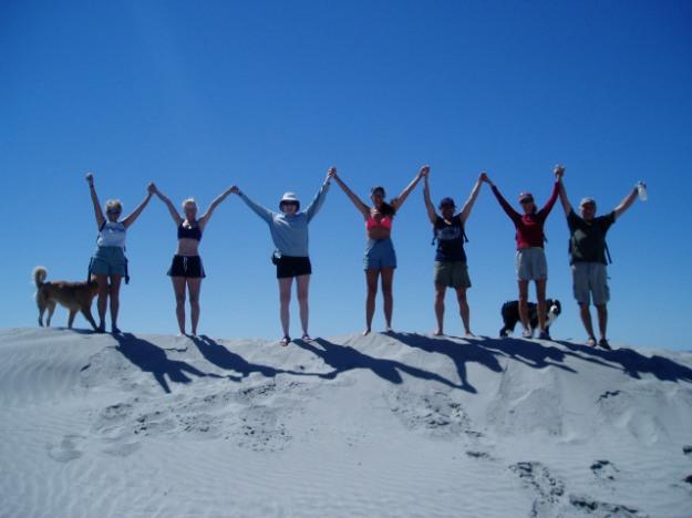 Kristene Perron with friends in Baja