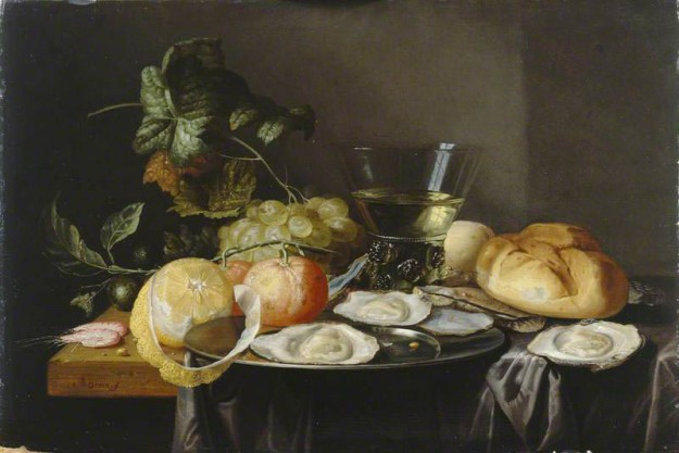 Hannot, Johannes; Still Life: Fruit and Oysters on a Table; Manchester Art Gallery; http://www.artuk.org/artworks/still-life-fruit-and-oysters-on-a-table-205166